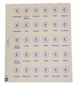 Hartberger GMRK blad met rugkaartjes van alle Euro-landen en jaargangen