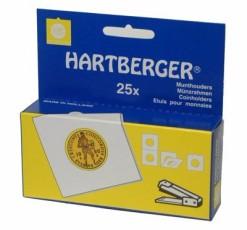 Hartberger Munthouders om te nieten 22,5 mm -25x-