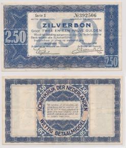 Nederland 1938 2,5 Gulden bankbiljet Zilverbon