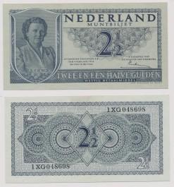 Nederland 1949 2,5 Gulden muntbiljet Juliana