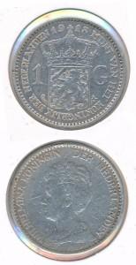 Nederland 1913 1 Gulden Wilhelmina