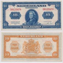 Nederland 1943 10 Gulden muntbiljet Wilhelmina