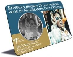 Nederland 2005 10 Euro jubileummunt coincard