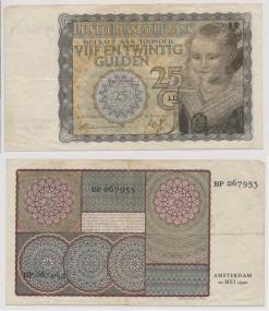 Nederland 1940 25 Gulden bankbiljet Prinsesje