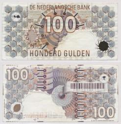 Nederland 1992 100 Gulden bankbiljet Steenuil