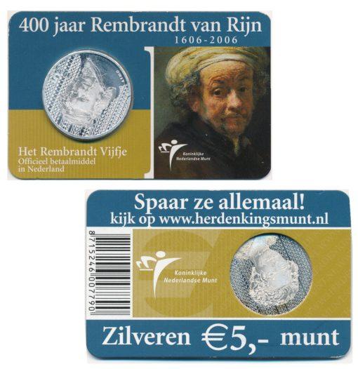 43988 Nederland 2006 5 Euro Rembrandt coincard