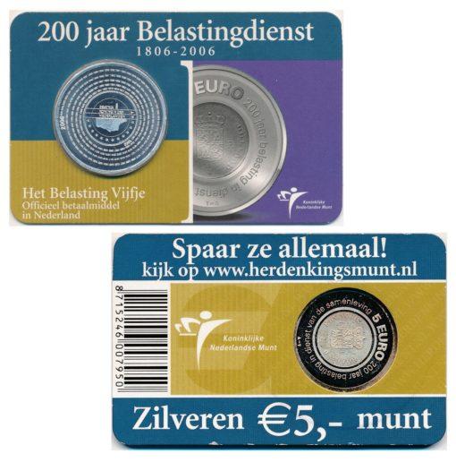 43989 Nederland 2006 5 Euro belastingdienst coincard