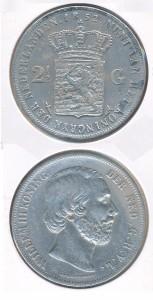 Nederland 1852 2,5 Gulden Willem III
