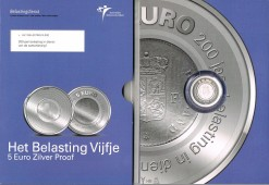 Nederland 2006 Belasting vijfje 5 euro zilver, proof in blister