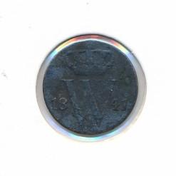 Nederland 1841 0,5 cent Willem II