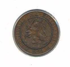 Nederland 1890 2,5 cent Wilhelmina