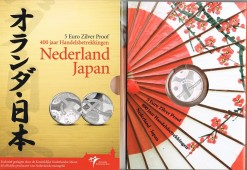 Nederland 2009 Japan vijfje 5 euro zilver, proof in blister