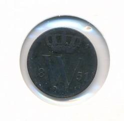 Nederland 1851 0,5 cent Willem III