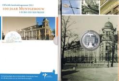 Nederland 2011 Muntgebouw vijfje 5 euro zilver, proof in blister