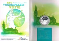 Nederland 2013 Vredespaleis vijfje 5 euro zilver, proof in blister