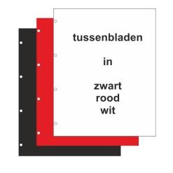 Hartberger tussenbladen voor WL Euro-System E-Z/R/W, uitvoering zoals Importa V-bladen -10x-