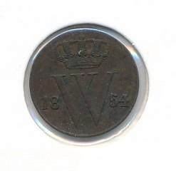 Nederland 1854 0,5 cent Willem III