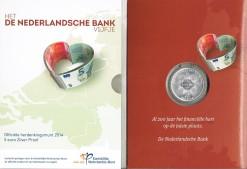 Nederland 2014 Nederlandse bank vijfje 5 euro zilver, proof in blister