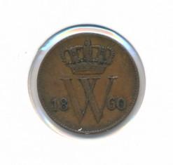 Nederland 1860 1 cent Willem III