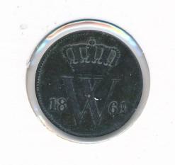 Nederland 1861 1 cent Willem III