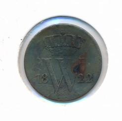 Nederland 1822 A Utrecht 1 cent Willem I