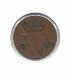 Nederland 1869 0,5 cent Willem III