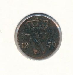 Nederland 1870 0,5 cent Willem III