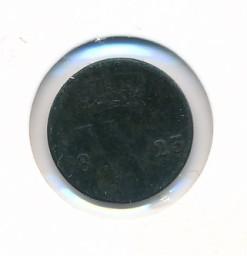 Nederland 1823 Utrecht 0,5 cent Willem I
