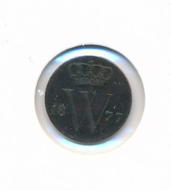 Nederland 1877 0,5 cent Willem III