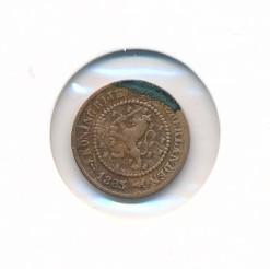 Nederland 1883 0,5 cent Willem III