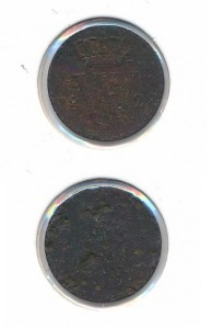 Nederland 1828 Utrecht 0,5 cent Willem I