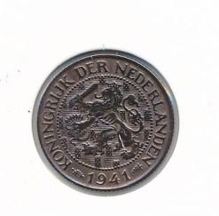 Nederland 1941 1 cent Wilhelmina