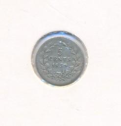 Nederland 1859 5 cent Willem III