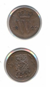 Nederland 1822 Brussel 0,5 cent Willem I