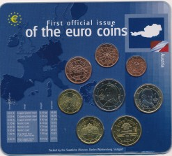 Oostenrijk mix euromunten set