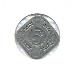 Nederland 1934 5 cent Wilhelmina