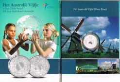 Nederland 2006 Australie vijfje 5 euro zilver, proof in blister
