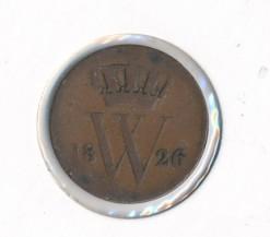 Nederland 1826 1 cent Willem I