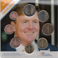 Nederland 2015 Willem Alexander oranjeset serie euromunten