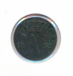 Nederland 1832 0,5 cent Willem I