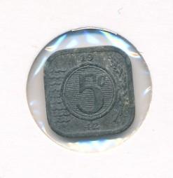 Nederland 1942 5 cent Wilhelmina