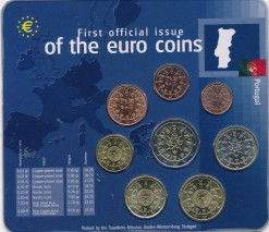 Portugal mix euromunten set