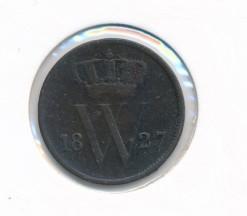 Nederland 1827 Utrecht 1 cent Willem I