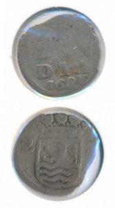 Zeeland 1686 2 stuiver zilver az verkeer geslagen