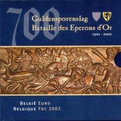 Belgie 2002 FDC jaarset