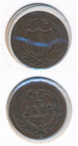 Frankfurt 1819 bleijenstijnse duit