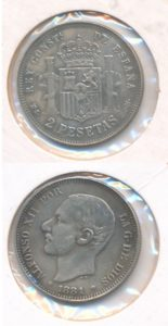 Spanje 1881 2 pesetas