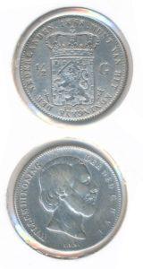 Nederland 1868 0,5 Gulden Willem III