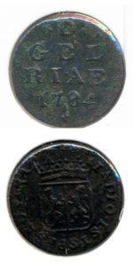 Gelderland 1784 duit
