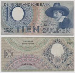 Nederland 1943 10 Gulden bankbiljet Staalmeesters